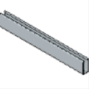 PS 100 EH 1-58 x 3-14 12 Gage Slotted Beam