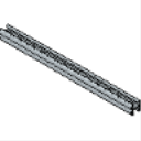PS 500 2T3 EH 1-58 x 1-58 14 Gage Back-to-Back Slotted Beam
