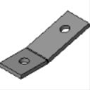 PS 633 2-Hole Angular Fitting
