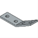 PS 781 4 Hole Outside Angle Fitting