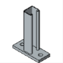 PS 651 6 to 24 Bracket (Slot Up)