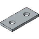 PS 601 2 Hole Flat Plate Fitting