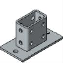 PS 2064 Double-Column Post Base
