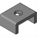 PS 623 1-Hole U Shape Fitting