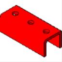 PS 629 3-Hole U Shape Fitting