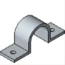 PS 3126 12 thru 6 Pipe Strap (Single Piece)