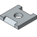 P2862 1 Hole Flat Plate Fitting (1-58 Series)